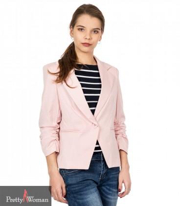 8074 Kroogitud varrukaga jakk- roosa