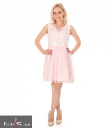 6177 Pidulik kleit pitsiga- heleroosa