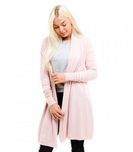 3051 Kootud jakk- roosa
