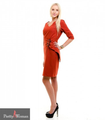 6376 Laia vööga kleit- telliskivi