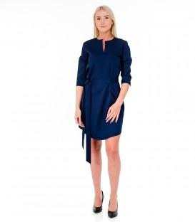 6279 Sirgelõikeline kleit- sinine