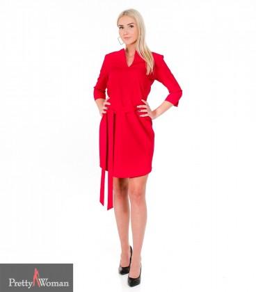 6279 Sirgelõikeline kleit- punane