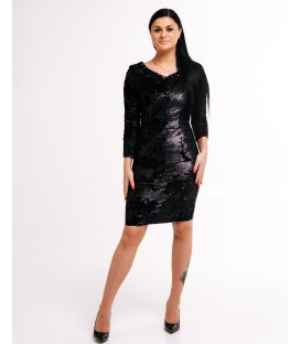 7426 Pidulik litritega kleit-must