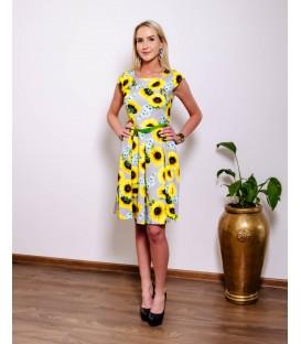 7401Päevalilledega kleit
