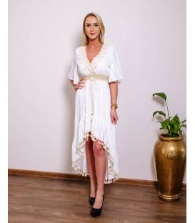 7398 Valge puuvillane kleit