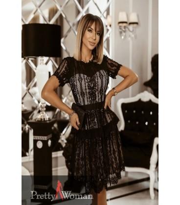6074 Pitsist kleit-must