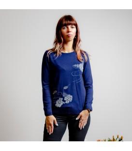 3095 Džemper sametise lillega-sinine